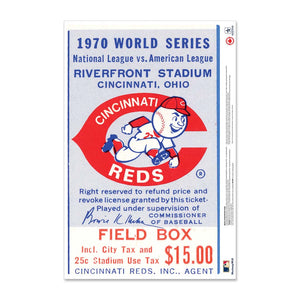 "24"" Repositionable W Series Ticket Cincinnati Reds Left 1970G1L"