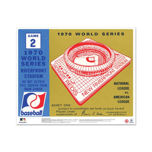 "24"" Repositionable W Series Ticket Cincinnati Reds Right 1970G1R"
