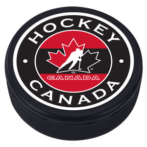 Team Canada Textured Puck - Stripe Design