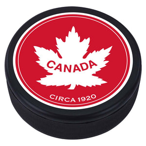 Team Canada Textured Puck - 1920 Vintage Design