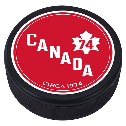 Team Canada Textured Puck - 1974 Vintage Design