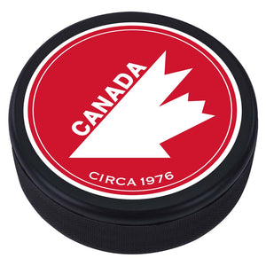 Team Canada Textured Puck - 1976 Vintage Design