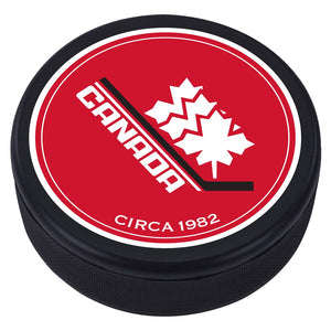 Team Canada Textured Puck - 1982 Vintage Design