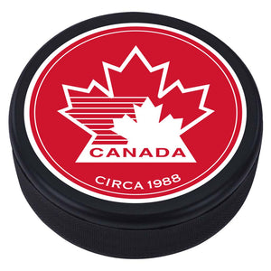 Team Canada Textured Puck - 1988 Vintage Design