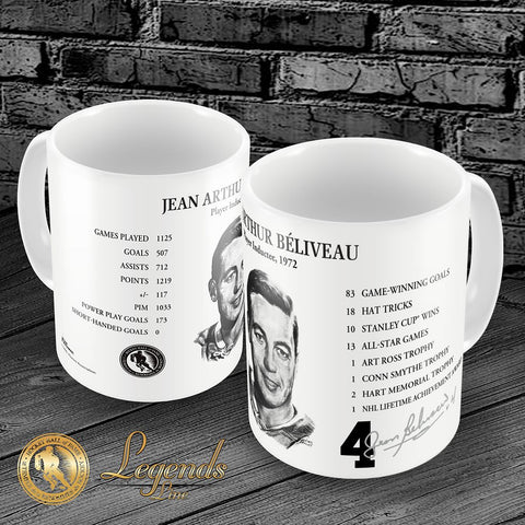 1972 Jean Beliveau - NHL Legends 15oz Ceramic Mug