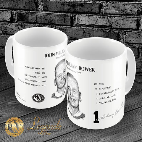 1976 Johnny Bower - NHL Legends 15oz Ceramic Mug