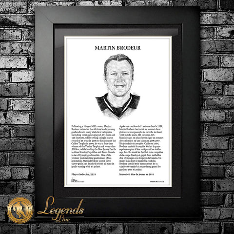 2018 Martin Brodeur - NHL Legends 12x16 Frame