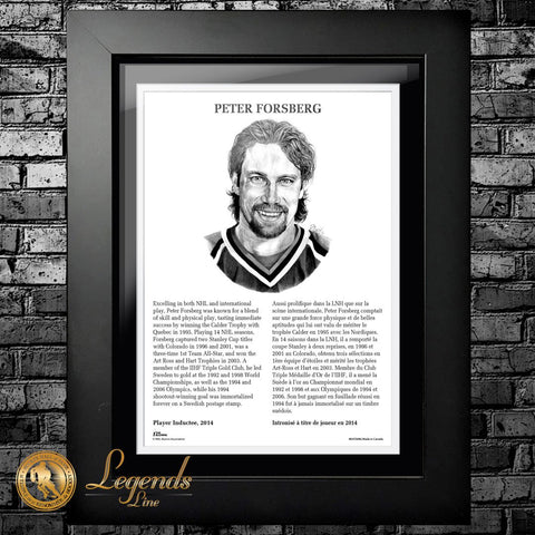 2014 Peter Forsberg - NHL Legends 12x16 Frame