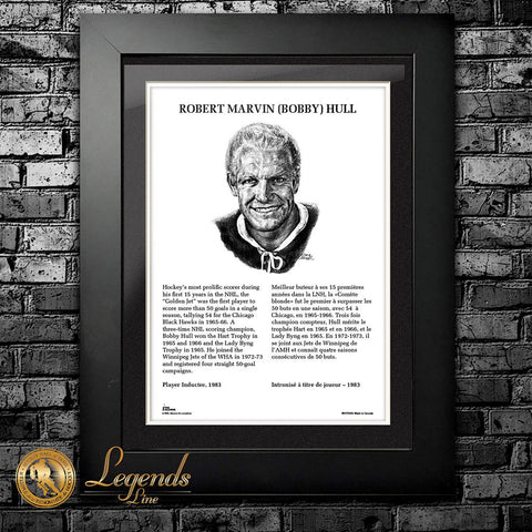 1983 Bobby Hull - NHL Legends 12x16 Frame