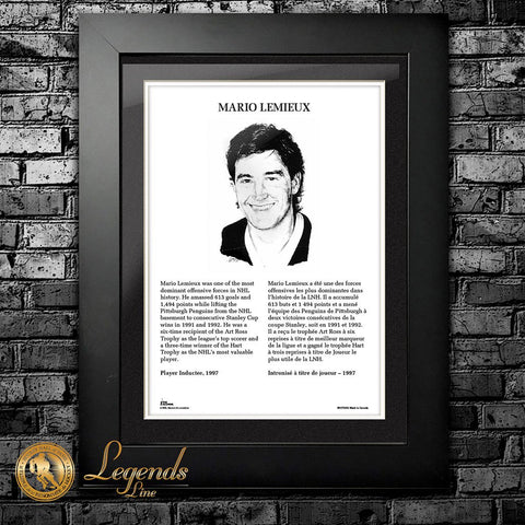 1997 Mario Lemieux - NHL Legends 12x16 Frame