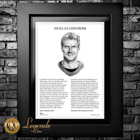 2015 Nicklas Lidstrom - NHL Legends 12x16 Frame