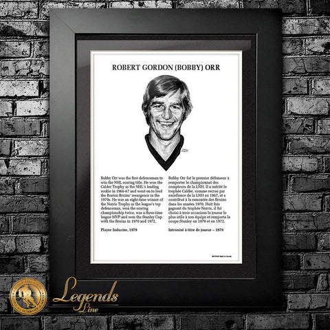1979 Bobby Orr - NHL Legends 12x16 Frame