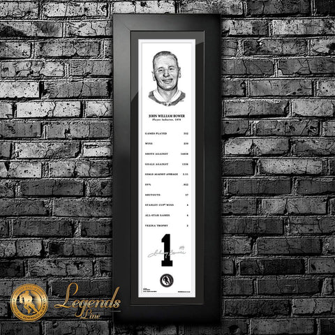 1976 Johnny Bower - NHL Legends 6x22 Frame