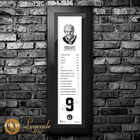1983 Bobby Hull - NHL Legends 6x22 Frame