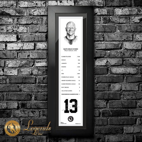 2012 Mats Sundin - NHL Legends 6x22 Frame