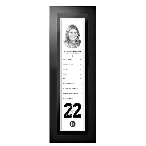 2019 Hayley Wickenheiser - NHL Legends 6x22 Frame