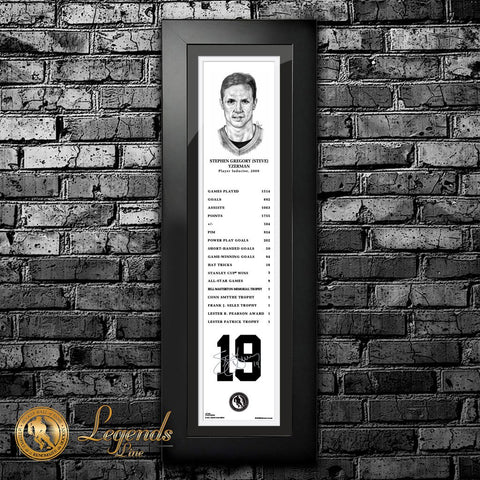 2009 Steve Yzerman - NHL Legends 6x22 Frame