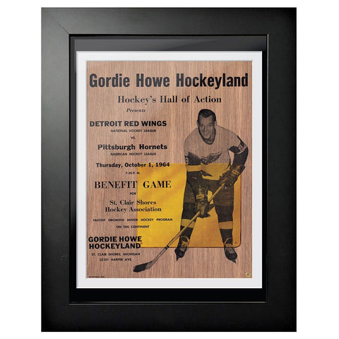 Detroit Red Wings Program Cover - Gordie Howe Hockey Hall of Action