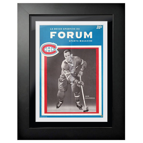 Montreal Canadiens Program Cover - Forum Sports Magazine Bobby Rousseau