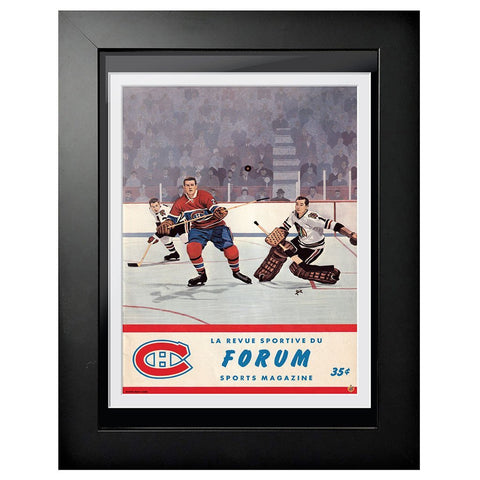 Montreal Canadiens Program Cover - Forum Sports Magazine Montreal vs. Chicago