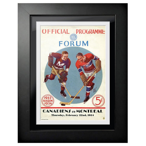 Montreal Canadiens Program Cover - Forum Offical Program Candiens vs. Montreal 1934
