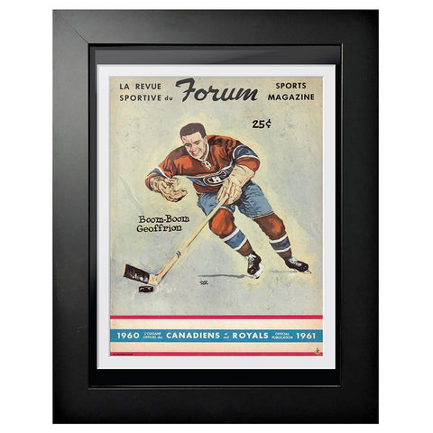 Montreal Canadiens Program Cover - Forum Sports Magazine Boom Boom Geoffrion