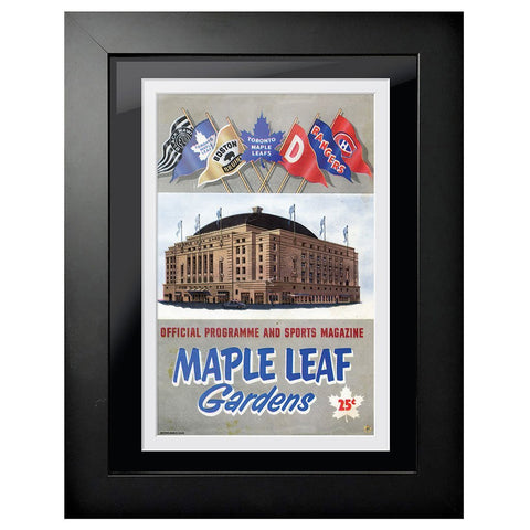 Toronto Maple Leafs Program Cover - Maple Leaf Gardens Banner Flags