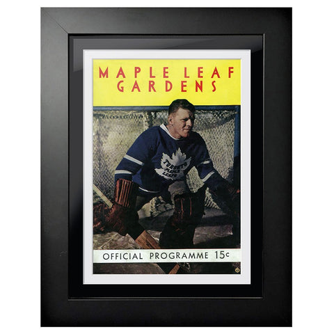 Toronto Maple Leafs Program Cover - Maple Leaf Gardens Goalie Edition