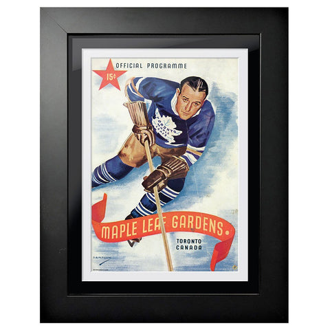 Toronto Maple Leafs Program Cover - Maple Leaf Gardens Red Ribbon