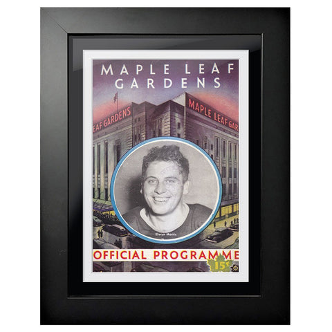 Toronto Maple Leafs Program Cover - Maple Leaf Gardens Black & White Image