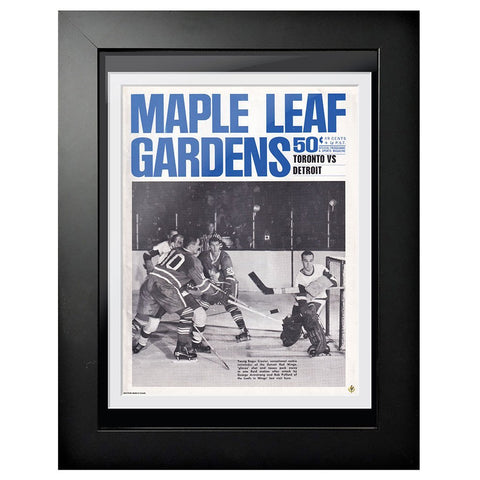 Toronto Maple Leafs Program Cover - Maple Leaf Gardens Toronto vs. Detroit