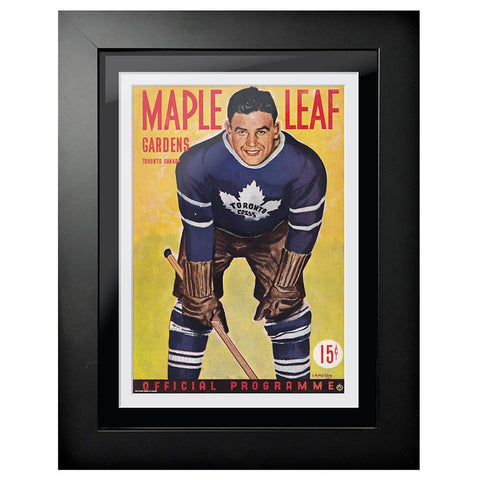 Toronto Maple Leafs Program Cover - Maple Leaf Gardens Yellow Pop