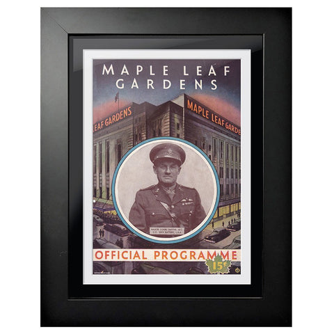 Toronto Maple Leafs Program Cover - Maple Leaf Gardens War Hero
