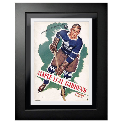 Toronto Maple Leafs Program Cover - Maple Leaf Gardens Green Pop