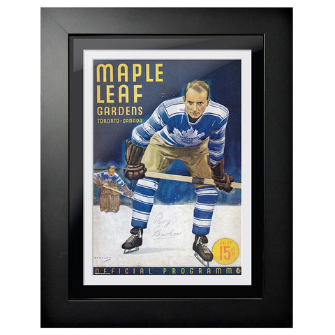 Toronto Maple Leafs Program Cover - Maple Leaf Gardens Goalie, Player Pose