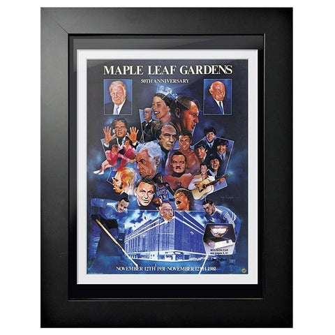 Toronto Maple Leafs Program Cover - Maple Leaf Gardens 50th Anniversary