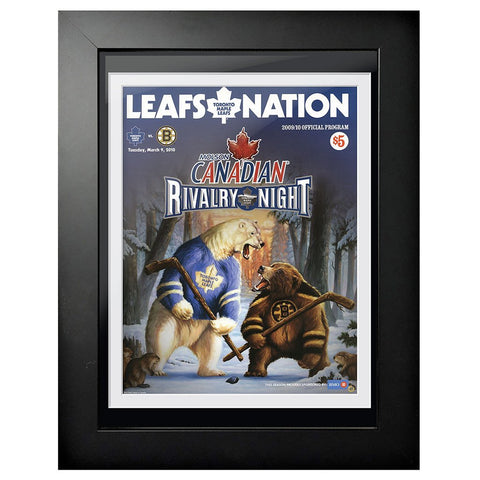 Toronto Maple Leafs Program Cover - Rivarly Night Toronto vs. Boston