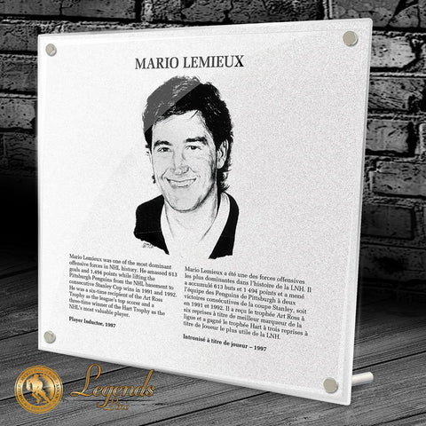 1997 Mario Lemieux - NHL Legends Plaque