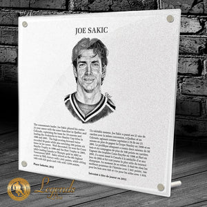 2012 Joe Sakic - NHL Legends Plaque