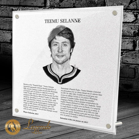2017 Teemu Selanne - NHL Legends Plaque