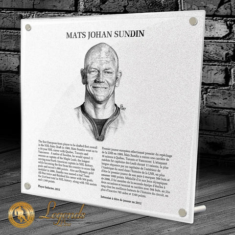 2012 Mats Sundin - NHL Legends Plaque