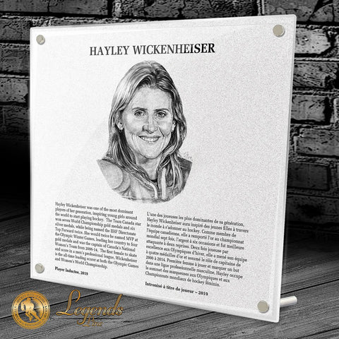 2019 Hayley Wickenheiser - NHL Legends Plaque