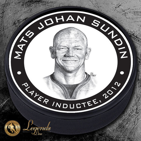 2012 Mats Sundin - NHL Legends Textured Puck