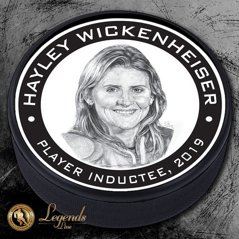 2019 Hayley Wickenheiser - NHL Legends Textured Puck