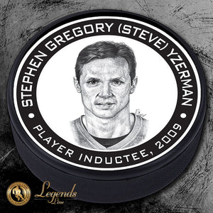 2009 Steve Yzerman - NHL Legends Textured Puck