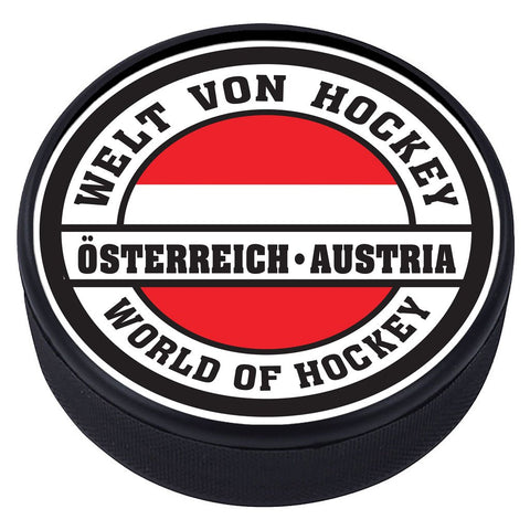 World of Hockey Textured Puck - Austria
