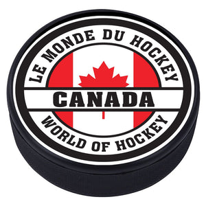 World of Hockey Textured Puck - Canada