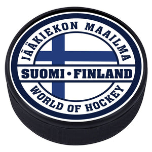 World of Hockey Textured Puck - Finland