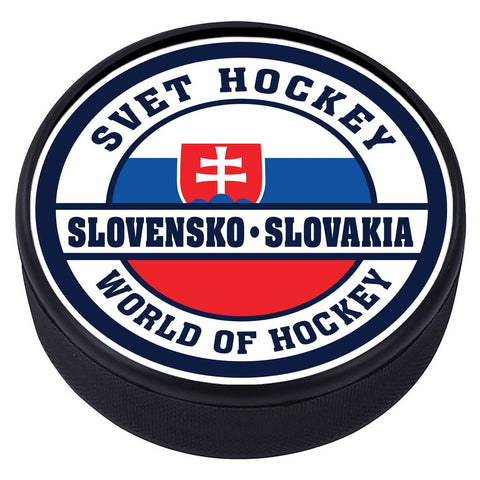 World of Hockey Textured Puck - Slovakia
