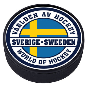 World of Hockey Textured Puck - Sweden